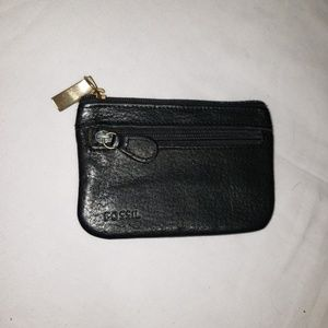 Fossil black coin/ card wallet